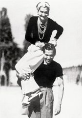 Coco Chanel with Russian ballet dancer Serge Lifar