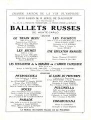 Russian Ballet Seasons 1924