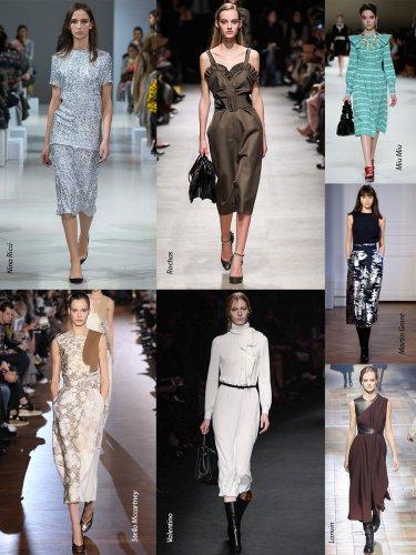 Paris Fall-Winter 2015/2016 Trends. Knee length