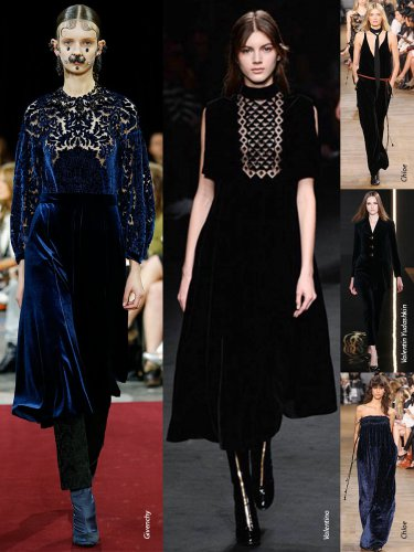 Paris Fall-Winter 2015/2016 Trends. Velvet