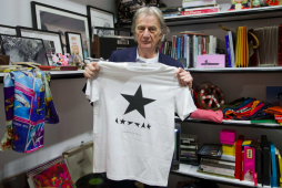 Paul Smith with David Bowie tribute t-shirt