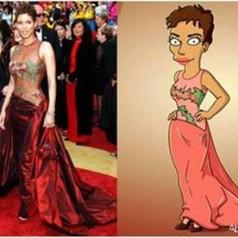 """Halle Berry wears Elie Saab on """"The Simpsons"""""""